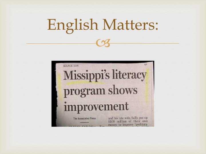 English matters2