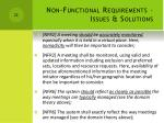 non functional requirements issues solutions