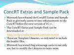 concrt extras and sample pack