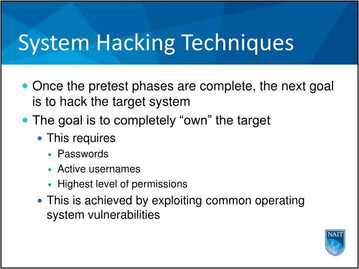 System hacking techniques1
