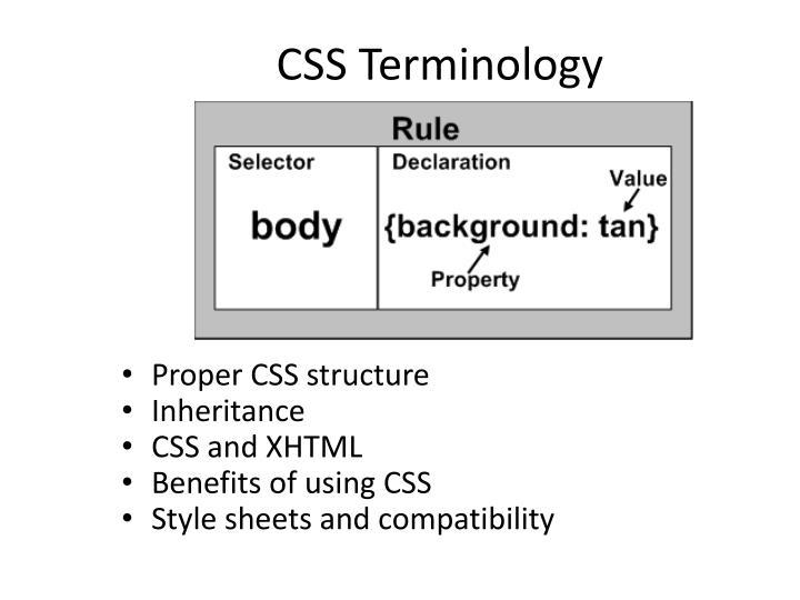 CSS Terminology