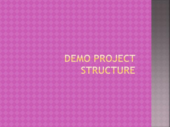 DEMO Project structure