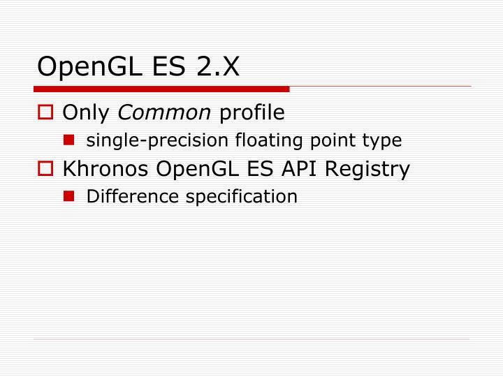 OpenGL ES 2.X