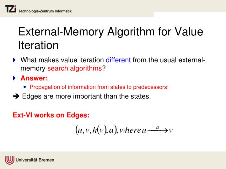 External-Memory Algorithm for Value Iteration