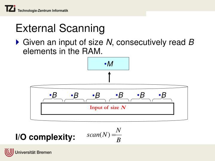 External Scanning
