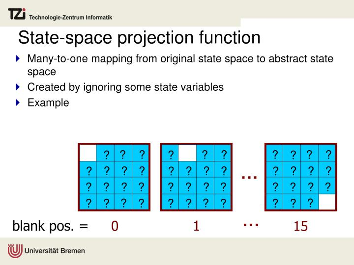 State-space projection function