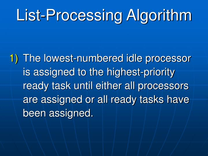 List-Processing Algorithm