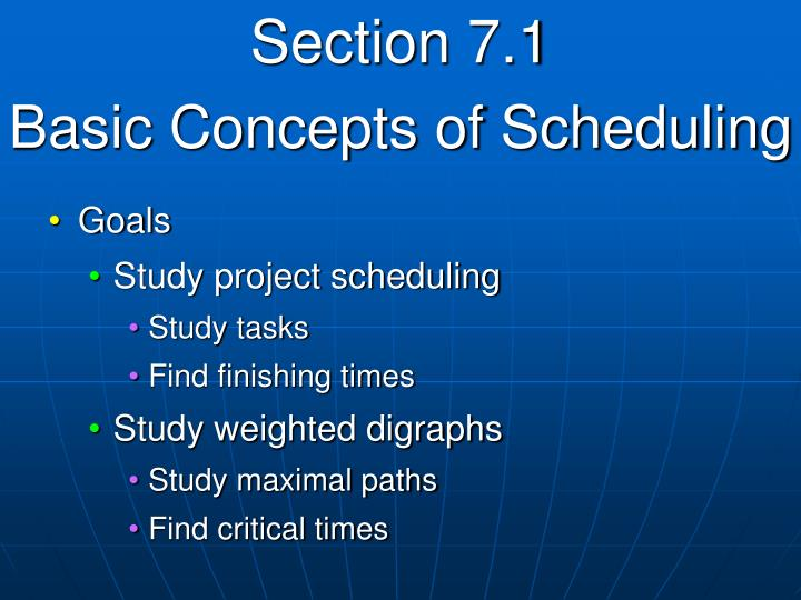 Section 7 1 basic concepts of scheduling