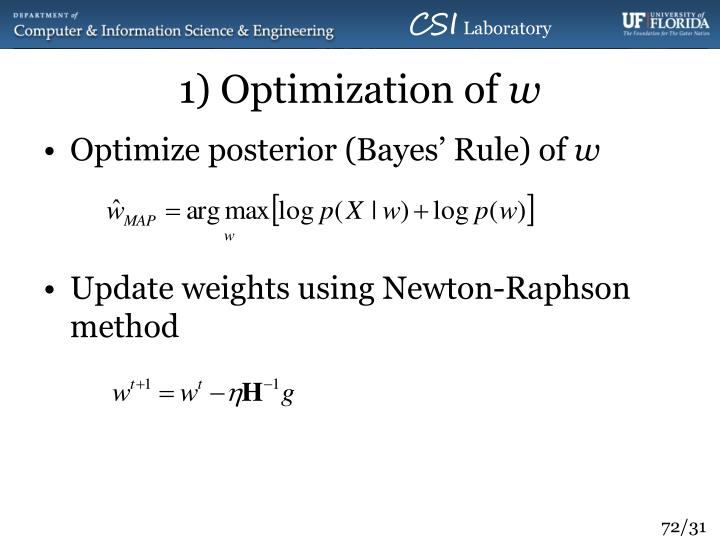 1) Optimization of