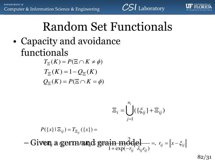 Random Set Functionals