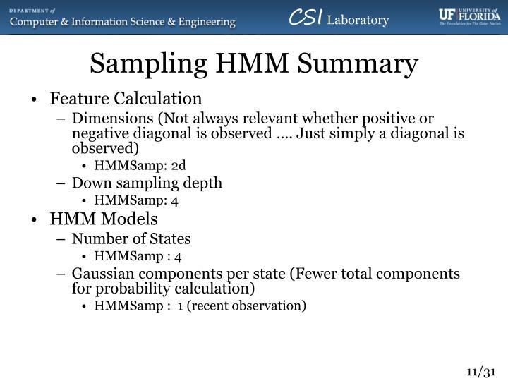 Sampling HMM Summary