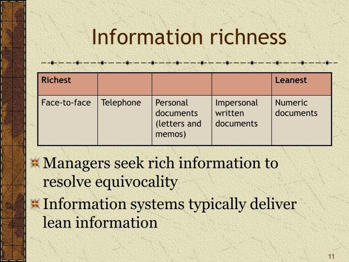 Information richness