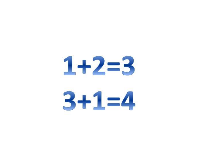 1+2=3     3+1=4