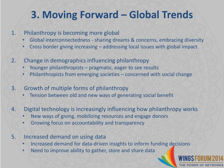 3. Moving Forward – Global Trends