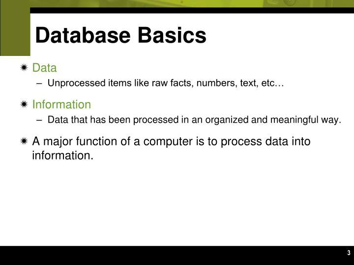 Database basics1