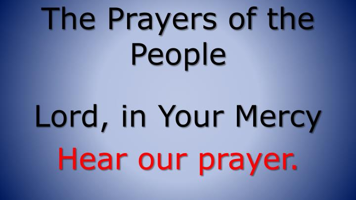 The Prayers of the People
