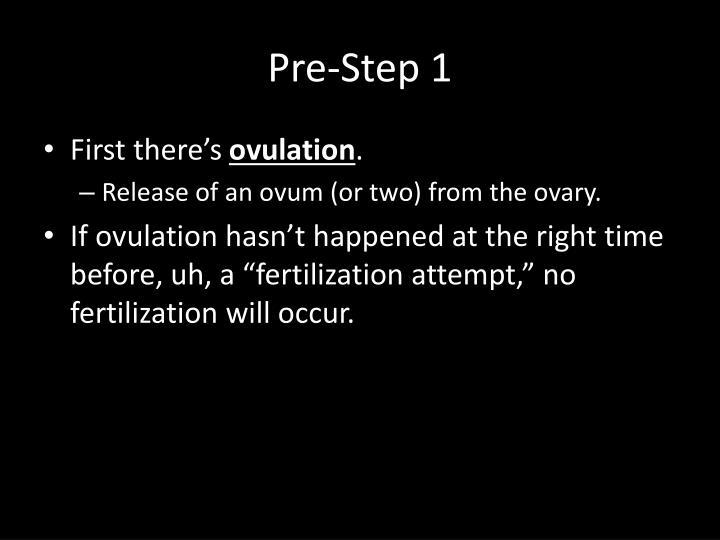 Pre-Step 1