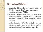 generalized wmns
