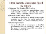three security challenges posed by wmn s