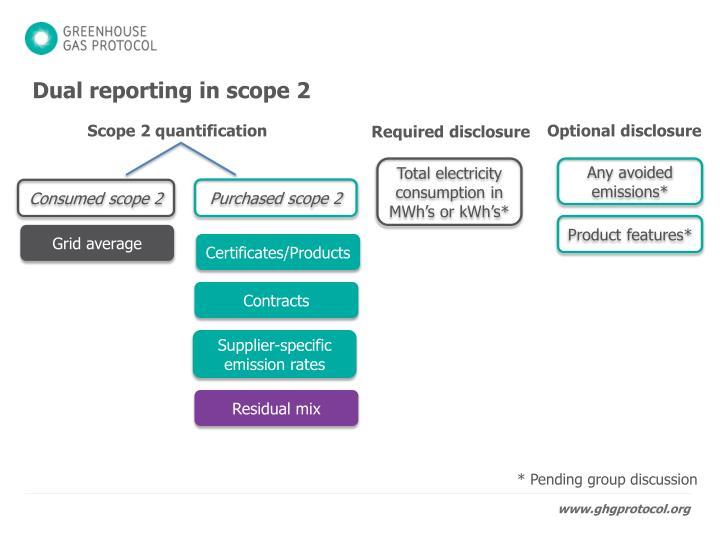 Dual reporting in scope 2