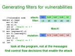 generating filters for vulnerabilities