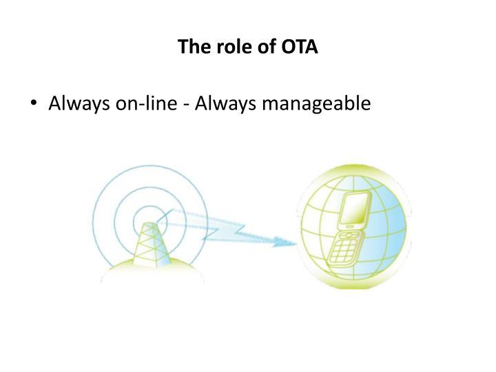 The role of OTA
