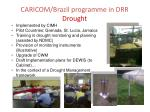 caricom brazil programme in drr drought