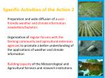 specific activities of the action 2