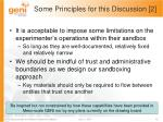 some principles for this discussion 2