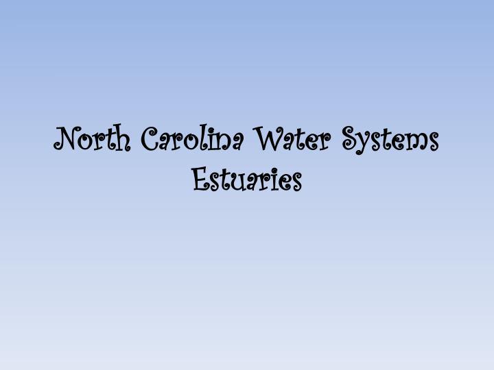 North Carolina Water Systems