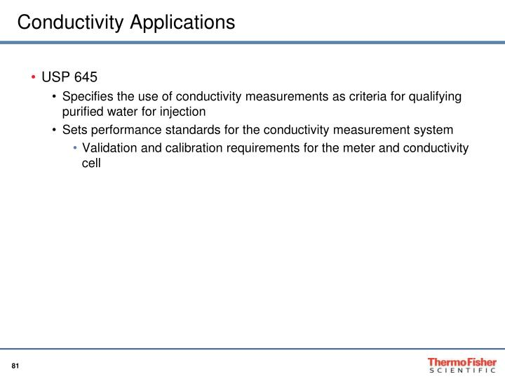 Conductivity Applications
