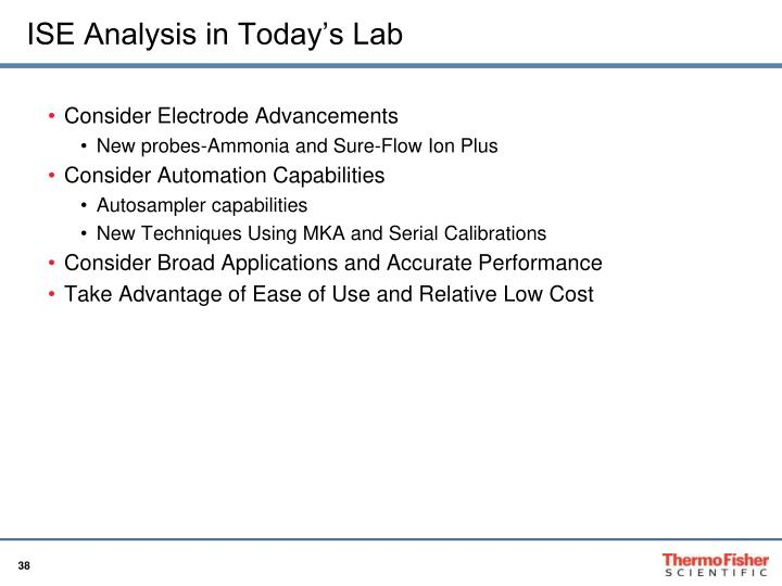 ISE Analysis in Today's Lab