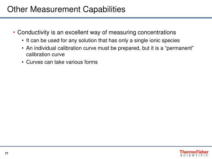 Other Measurement Capabilities