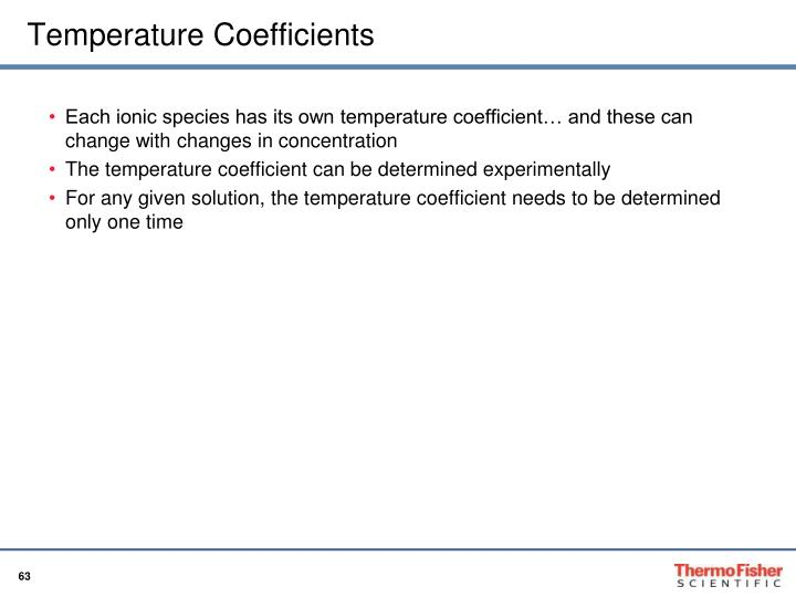 Temperature Coefficients