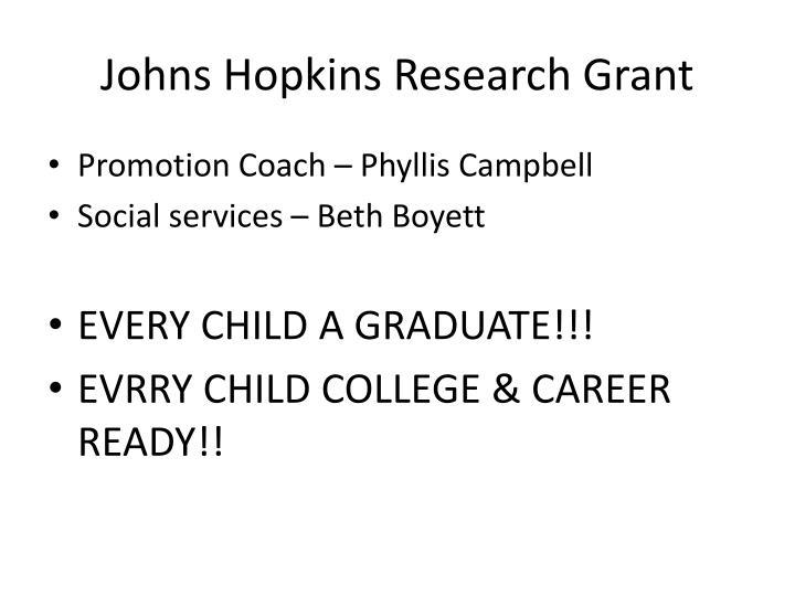 Johns Hopkins Research Grant