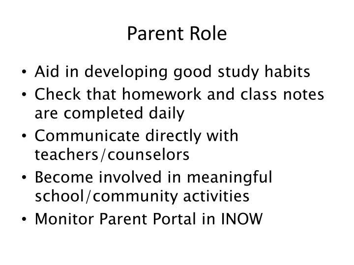 Parent Role