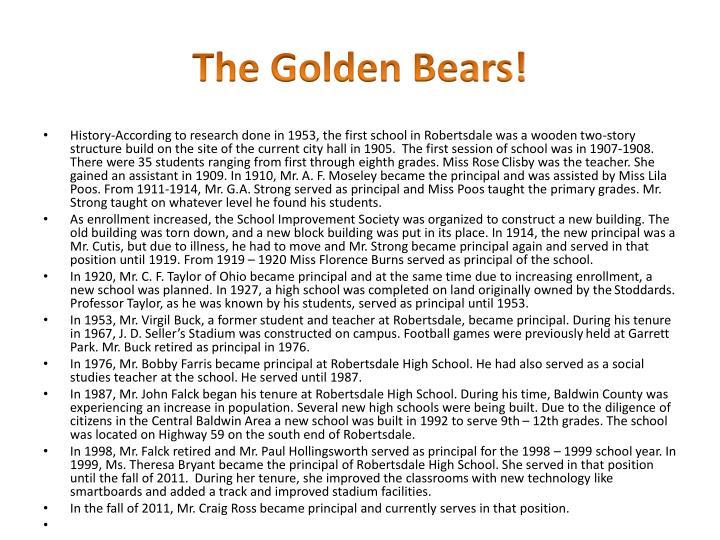 The golden bears
