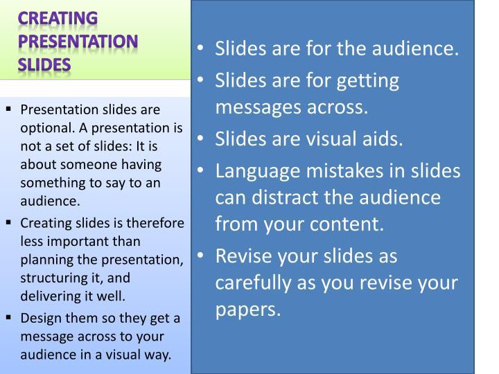 Creating Presentation Slides
