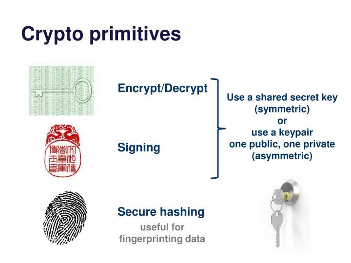 Crypto primitives