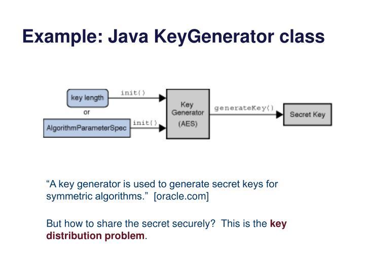 Example: Java KeyGenerator class