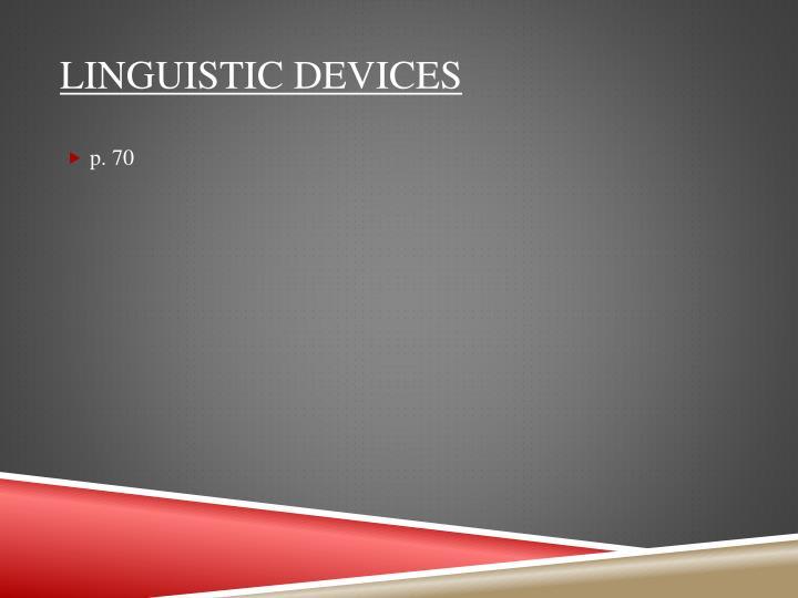 Linguistic devices