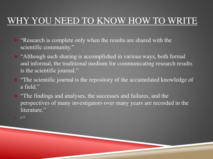 Why you need to know how to write