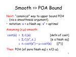 smooth poa bound