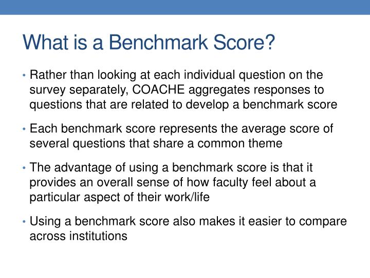 What is a Benchmark Score?