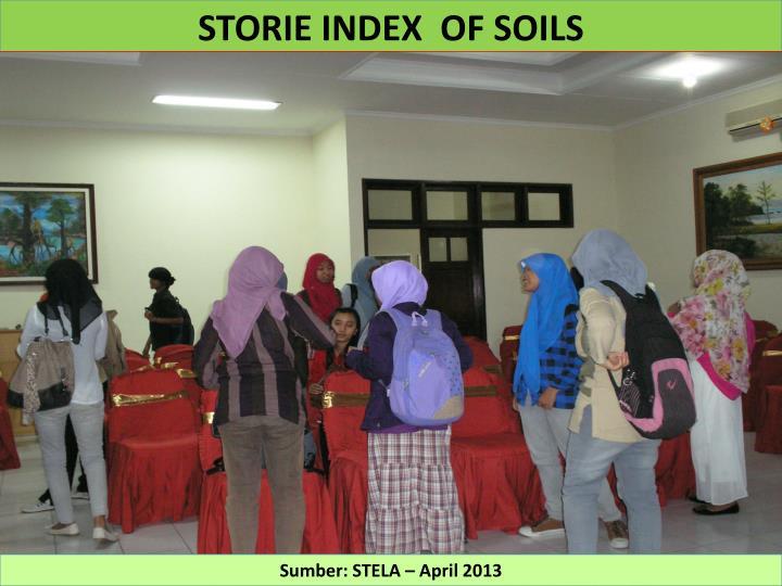 STORIE INDEX  OF SOILS