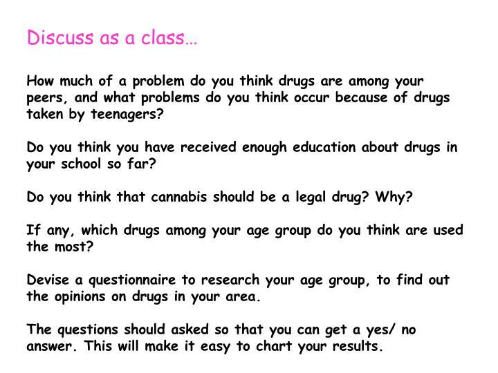 Discuss as a class…