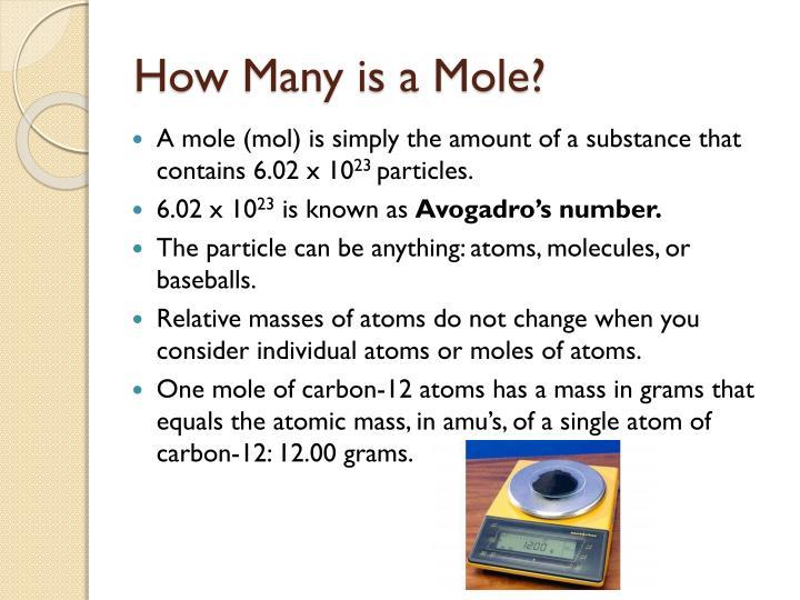 How Many is a Mole?