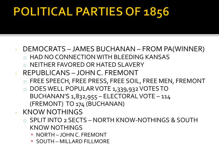 Political parties of 1856