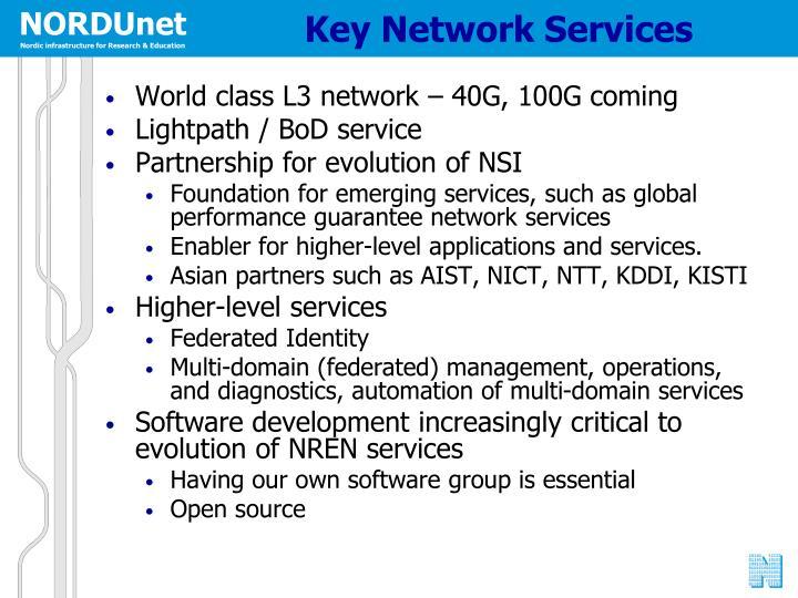 Key Network Services