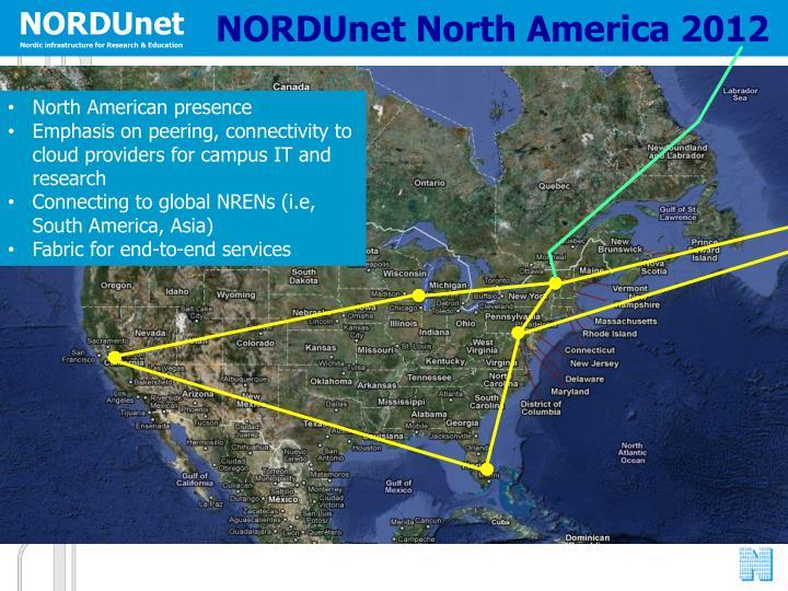 NORDUnet North America 2012